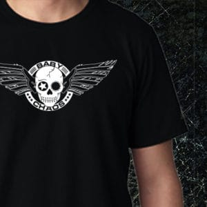 Baby Chaos - Skull and Wings T-Shirt